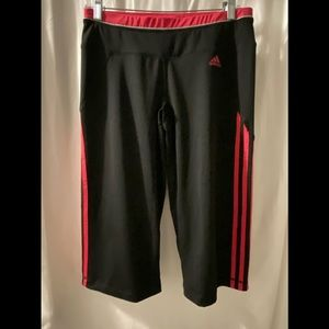 adidas M  Climalite long shorts Capri Black pink